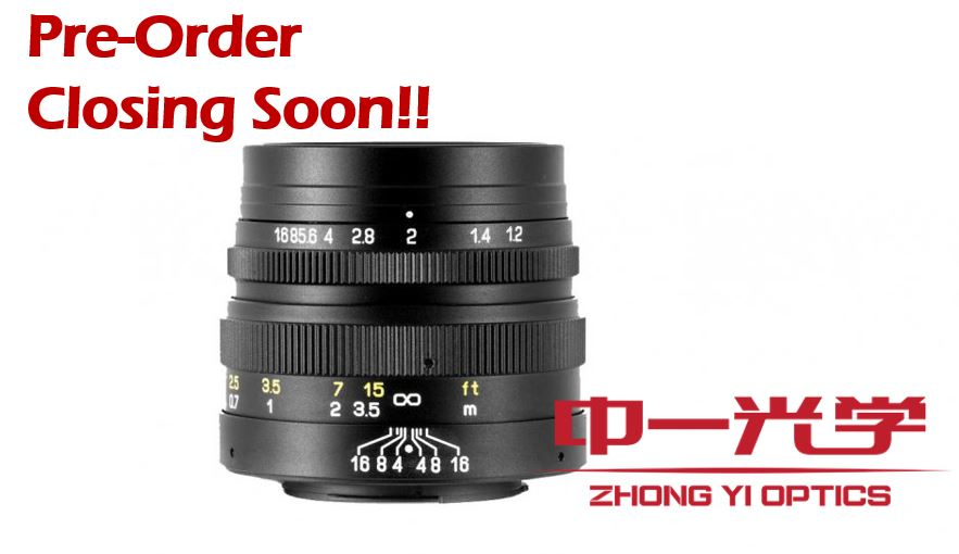 Pre-order of Zhongyi Mitakon 24mm f/1.7 and 42.5mm f/1.2 is closing soon