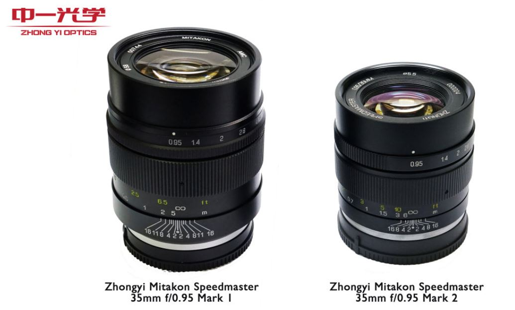 Version 2 Of The Zhongyi Mitakon Speedmaster 35mm f/0.95 Lens Released
